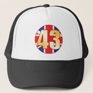 43 UK Gold Trucker Hat