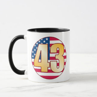 43 USA Gold Mug