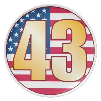 43 USA Gold Plate