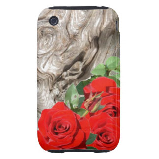43 Wood and Roses iPhone 3 Tough Case