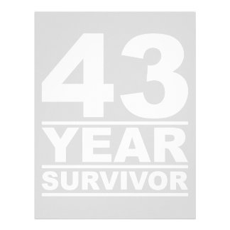 43 year survivor letterhead
