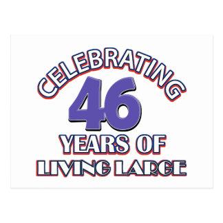 43 years of living large birthday designs postcard