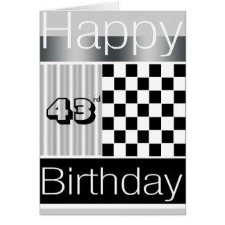 43rd Birthday Card