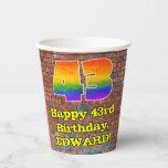 [ Thumbnail: 43rd Birthday: Fun Graffiti-Inspired Rainbow 43 ]