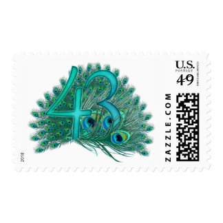 43rd decorative artistic number stamps postage stamps