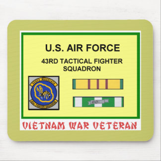 43RD TACTICAL FIGHTER SQUADRON VIETNAM VET MOUSE PAD