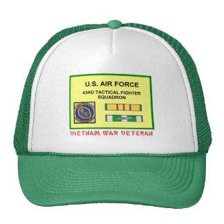 43RD TACTICAL FIGHTER SQUADRON VIETNAM VET TRUCKER HAT