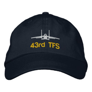 43rd TFS F-15 Golf Hat Embroidered Hats