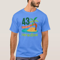 43rd Wedding Anniversary Funny Gift For Her T-Shirt