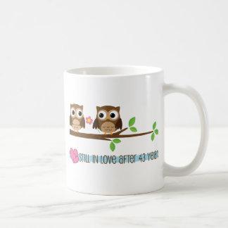 43rd Wedding Anniversary Owls Coffee Mug