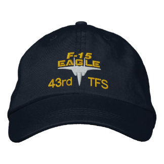 43TFS F-15 High Tech Eagle Golf Hat Embroidered Hats