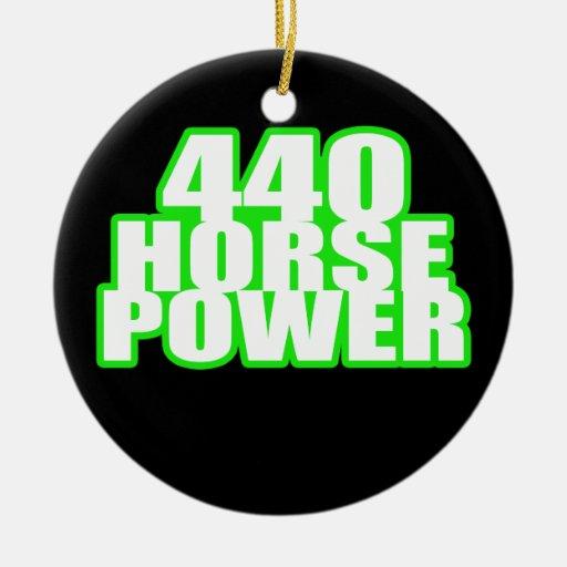 440 hemi green charger ceramic ornament
