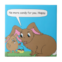 440 No more easter candy Cartoon Tile