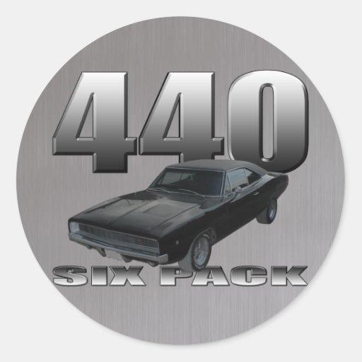 440 seis cargadores del regate del paquete pegatina redonda