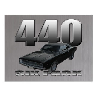 440 six pack dodge charger postcard
