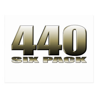 440 six pack Mopar Dodge Postcard