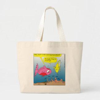 441 shell fish Cartoon Tote Bags