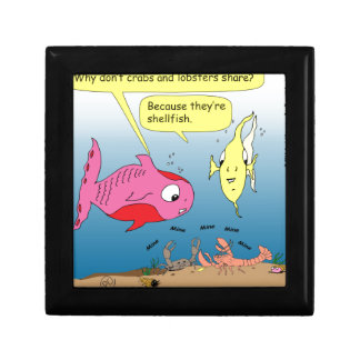 441 shell fish Cartoon Keepsake Box