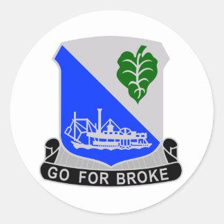 442 Infantry Regiment Classic Round Sticker