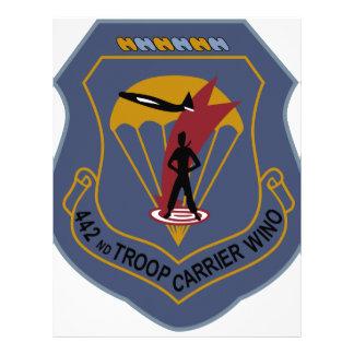 442nd Troop Carrier Wing Letterhead Design