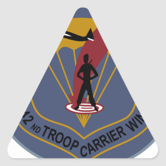 442nd Troop Carrier Wing Triangle Sticker
