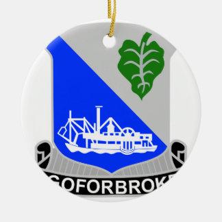 442o Regimiento de infantería Adorno Navideño Redondo De Cerámica