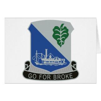 442o Regimiento de infantería Tarjeta