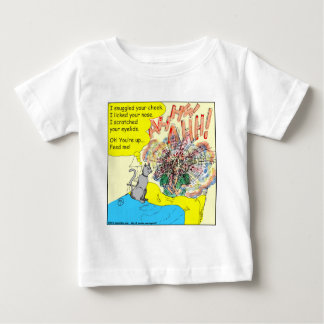 443 Cat wake-up: scratched your eyelid - cartoon Baby T-Shirt