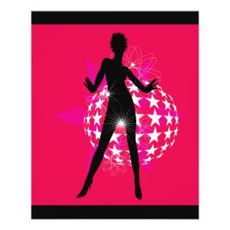 "447691 WOMAN DANCING DISCO CLUB FUN LOUD MUSIC STA 4.5"" X 5.6"" FLYER"