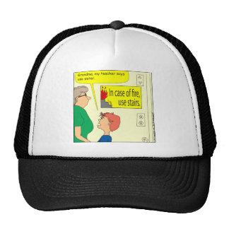 448 in case of fire Cartoon Trucker Hat