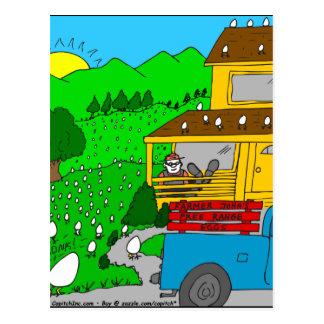 449 free range eggs Cartoon Postcard
