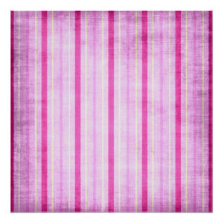 449_lilies-paper-stripes PINK WHITE CANDY CANDYCAN Poster