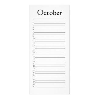44:23 de octubre Isaías del calendario perpetuo Lonas Publicitarias