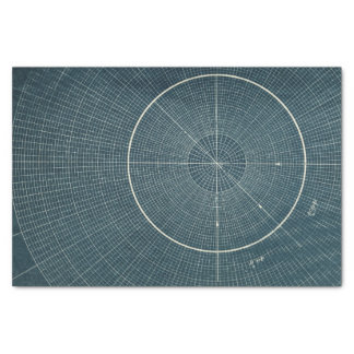 "44.4 Degrees - Vintage Chart 10"" X 15"" Tissue Paper"