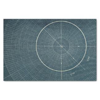 "44.4 Degrees - Vintage Chart 10"" X 15"" Tissue Paper"