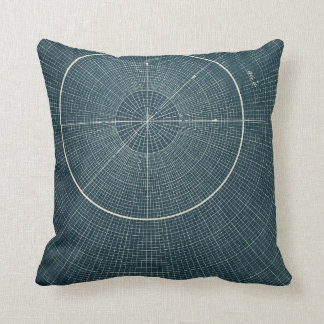 44.4 Degrees - Vintage Chart Pillow