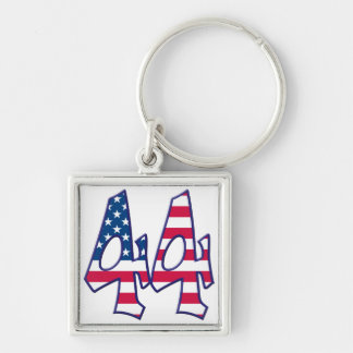 44 Age USA Silver-Colored Square Keychain