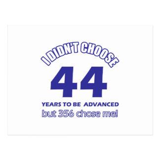 44 años de adelanto tarjeta postal