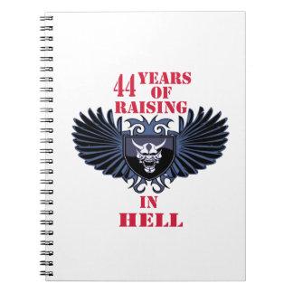 44 años de aumento en infierno libro de apuntes
