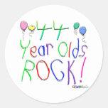 ¡44 años de la roca! etiquetas redondas