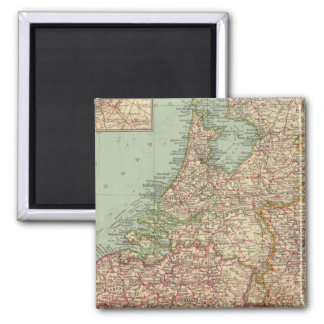 44 Belgium and Holland 2 Inch Square Magnet