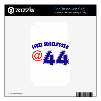 44 Birthday Design iPod Touch 4G Decal