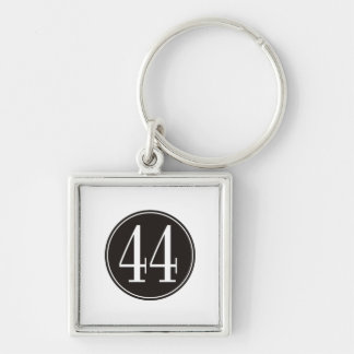 #44 Black Circle Keychain