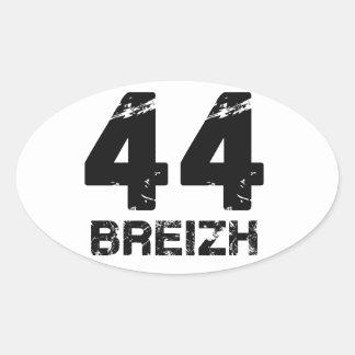 44 Breizh Pegatina Ovalada
