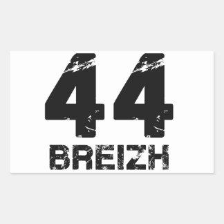 44 Breizh Pegatina Rectangular
