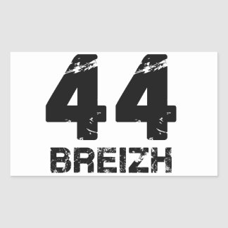 44 Breizh Rectangular Sticker