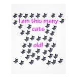 44 cabezas del gato viejas membrete a diseño