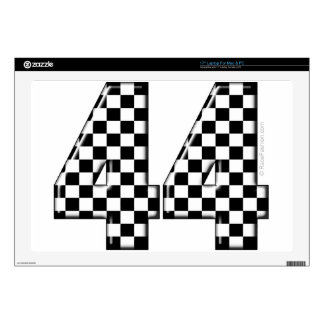 "44 checkered number 17"" laptop skins"