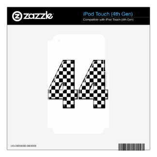 44 checkered number skin for iPod touch 4G