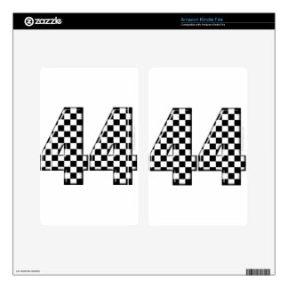 44 checkered number skin for kindle fire